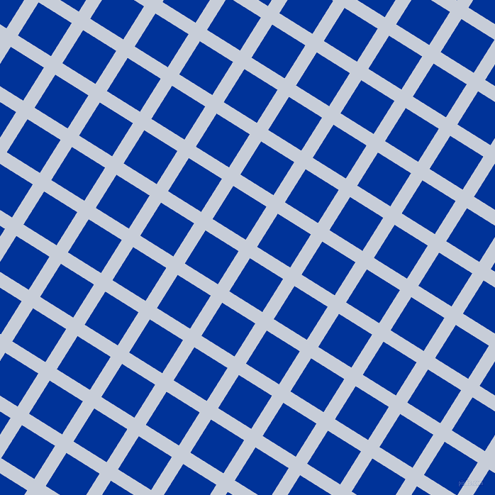 58/148 degree angle diagonal checkered chequered lines, 19 pixel line width, 55 pixel square size, Link Water and Smalt plaid checkered seamless tileable