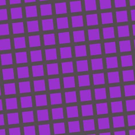6/96 degree angle diagonal checkered chequered lines, 14 pixel line width, 38 pixel square size, Liver and Dark Orchid plaid checkered seamless tileable