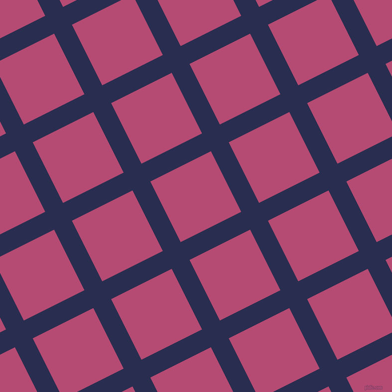 27/117 degree angle diagonal checkered chequered lines, 40 pixel line width, 136 pixel square size, Lucky Point and Royal Heath plaid checkered seamless tileable