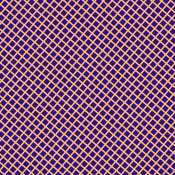 49/139 degree angle diagonal checkered chequered lines, 5 pixel line width, 16 pixel square size, Macaroni And Cheese and Persian Indigo plaid checkered seamless tileable