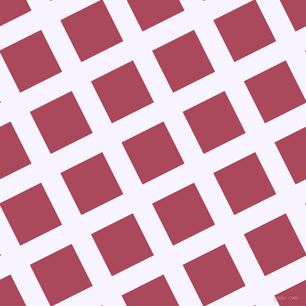 27/117 degree angle diagonal checkered chequered lines, 31 pixel line width, 68 pixel square size, Magnolia and Hippie Pink plaid checkered seamless tileable