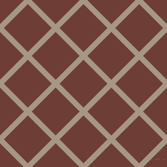 45/135 degree angle diagonal checkered chequered lines, 19 pixel line width, 117 pixel square size, Malta and Metallic Copper plaid checkered seamless tileable