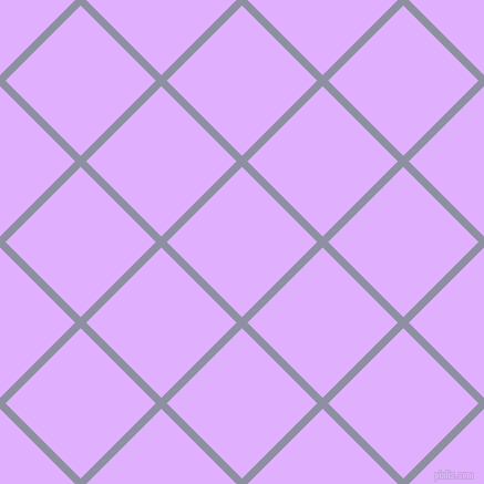 45/135 degree angle diagonal checkered chequered lines, 7 pixel lines width, 96 pixel square size, Manatee and Mauve plaid checkered seamless tileable