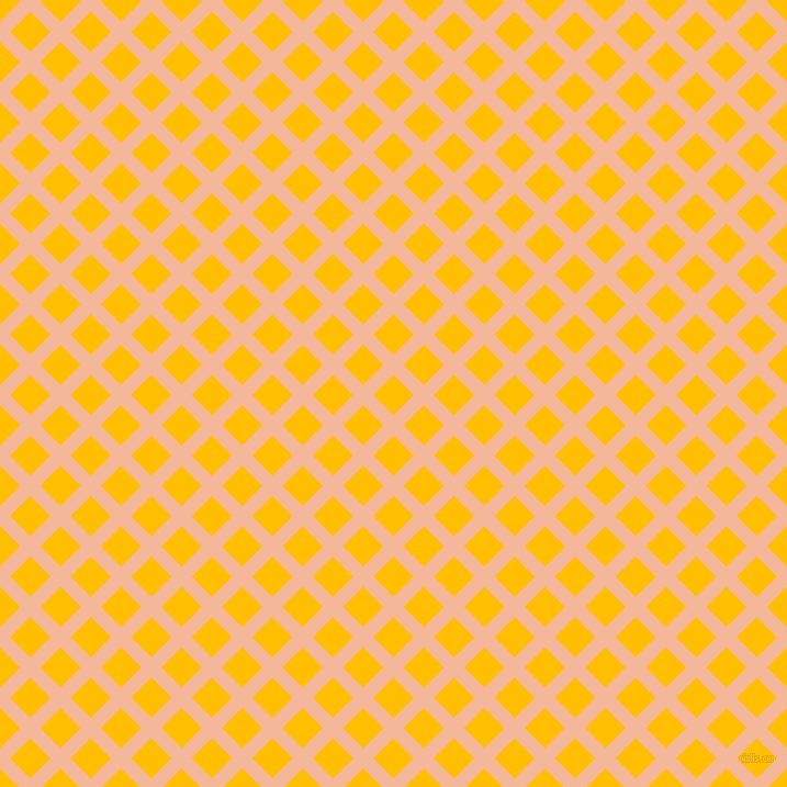 45/135 degree angle diagonal checkered chequered lines, 13 pixel line width, 26 pixel square size, Mandys Pink and Amber plaid checkered seamless tileable