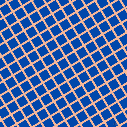 31/121 degree angle diagonal checkered chequered lines, 7 pixel line width, 31 pixel square size, Mandys Pink and Cobalt plaid checkered seamless tileable