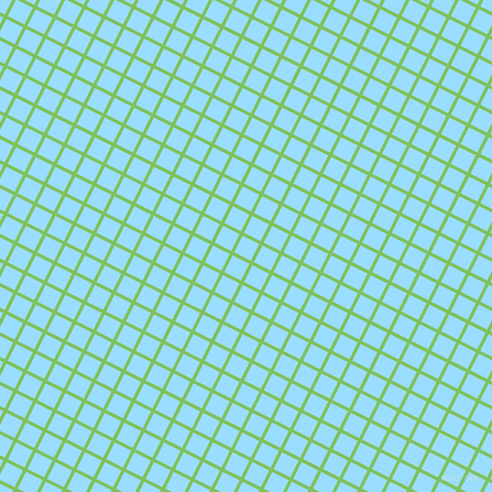 63/153 degree angle diagonal checkered chequered lines, 3 pixel line width, 17 pixel square size, Mantis and Columbia Blue plaid checkered seamless tileable