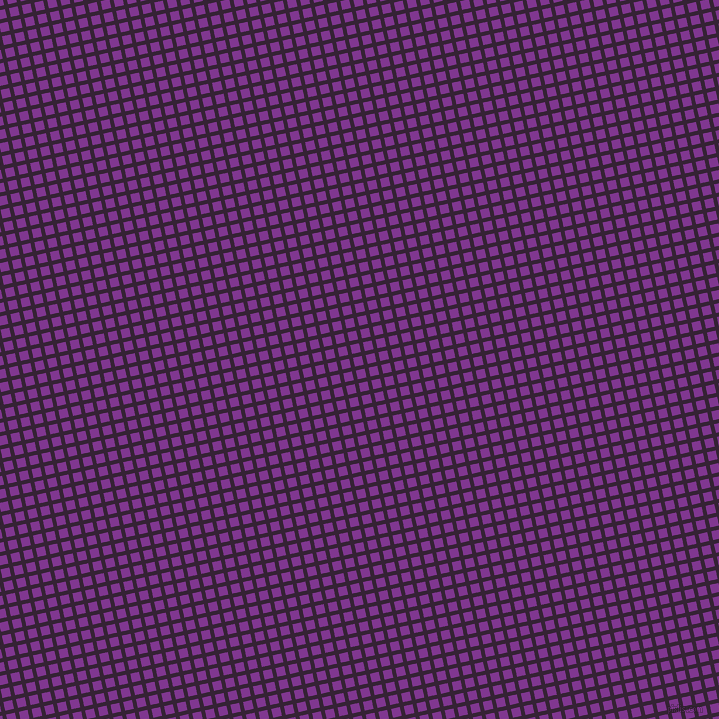 13/103 degree angle diagonal checkered chequered lines, 4 pixel line width, 9 pixel square size, Mardi Gras and Vivid Violet plaid checkered seamless tileable