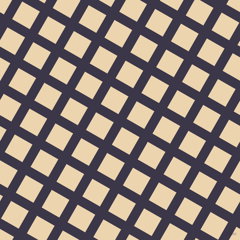 60/150 degree angle diagonal checkered chequered lines, 32 pixel lines width, 69 pixel square size, Martinique and Givry plaid checkered seamless tileable
