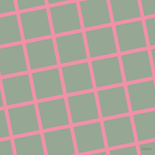 11/101 degree angle diagonal checkered chequered lines, 13 pixel line width, 92 pixel square size, Mauvelous and Mantle plaid checkered seamless tileable