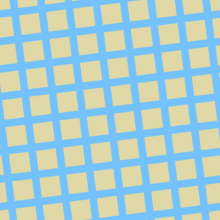 7/97 degree angle diagonal checkered chequered lines, 24 pixel lines width, 64 pixel square size, Maya Blue and Mint Julep plaid checkered seamless tileable
