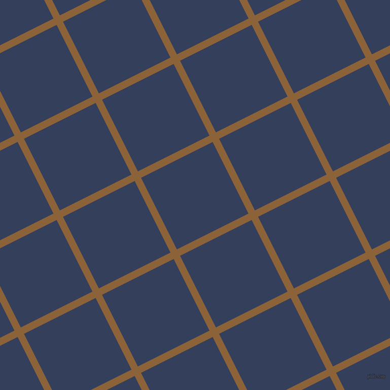 27/117 degree angle diagonal checkered chequered lines, 14 pixel lines width, 158 pixel square size, McKenzie and Gulf Blue plaid checkered seamless tileable