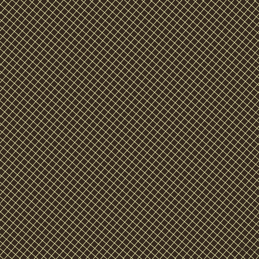 49/139 degree angle diagonal checkered chequered lines, 1 pixel line width, 10 pixel square size, Medium Goldenrod and Cocoa Brown plaid checkered seamless tileable