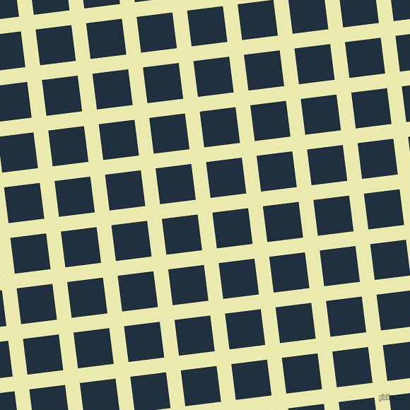 7/97 degree angle diagonal checkered chequered lines, 21 pixel line width, 51 pixel square size, Medium Goldenrod and Midnight plaid checkered seamless tileable