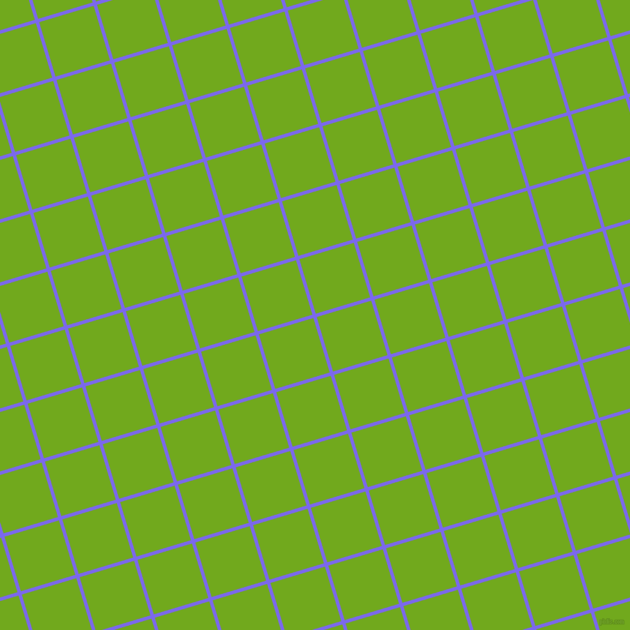 17/107 degree angle diagonal checkered chequered lines, 5 pixel line width, 82 pixel square size, Medium Slate Blue and Christi plaid checkered seamless tileable