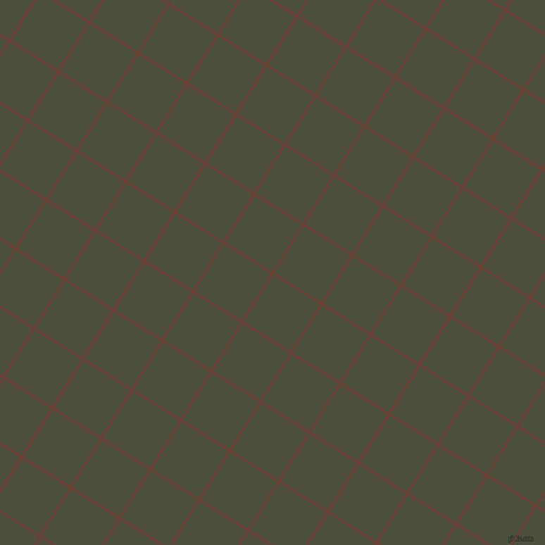 58/148 degree angle diagonal checkered chequered lines, 3 pixel line width, 79 pixel square size, Metallic Copper and Kelp plaid checkered seamless tileable
