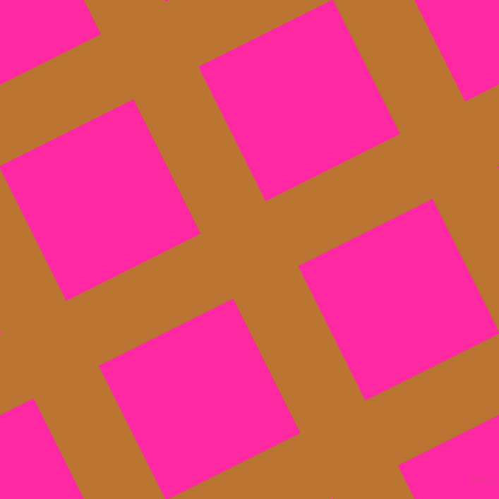 27/117 degree angle diagonal checkered chequered lines, 103 pixel lines width, 213 pixel square size, Meteor and Persian Rose plaid checkered seamless tileable