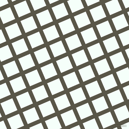 23/113 degree angle diagonal checkered chequered lines, 13 pixel line width, 42 pixel square size, Millbrook and Mint Cream plaid checkered seamless tileable