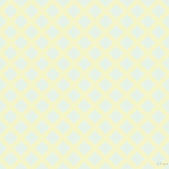 45/135 degree angle diagonal checkered chequered lines, 16 pixel line width, 32 pixel square size, Mimosa and Aqua Spring plaid checkered seamless tileable