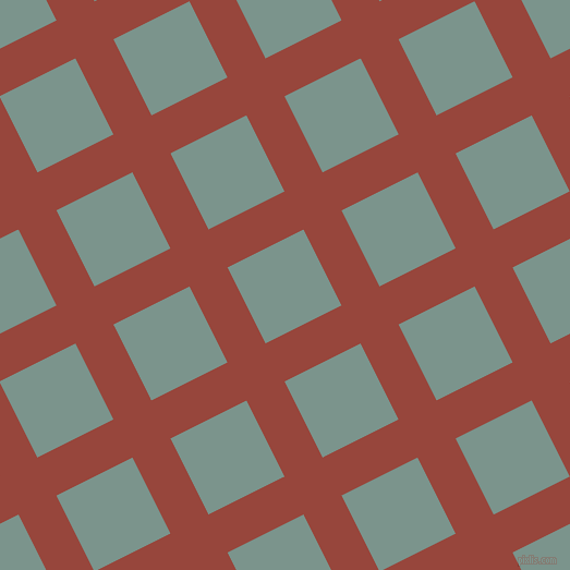 27/117 degree angle diagonal checkered chequered lines, 39 pixel line width, 78 pixel square size, Mojo and Granny Smith plaid checkered seamless tileable