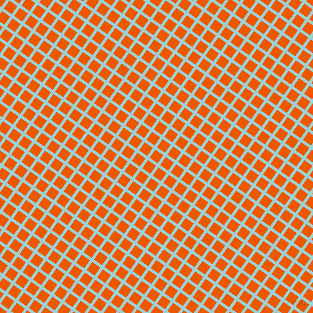 55/145 degree angle diagonal checkered chequered lines, 6 pixel lines width, 20 pixel square size, Morning Glory and Persimmon plaid checkered seamless tileable