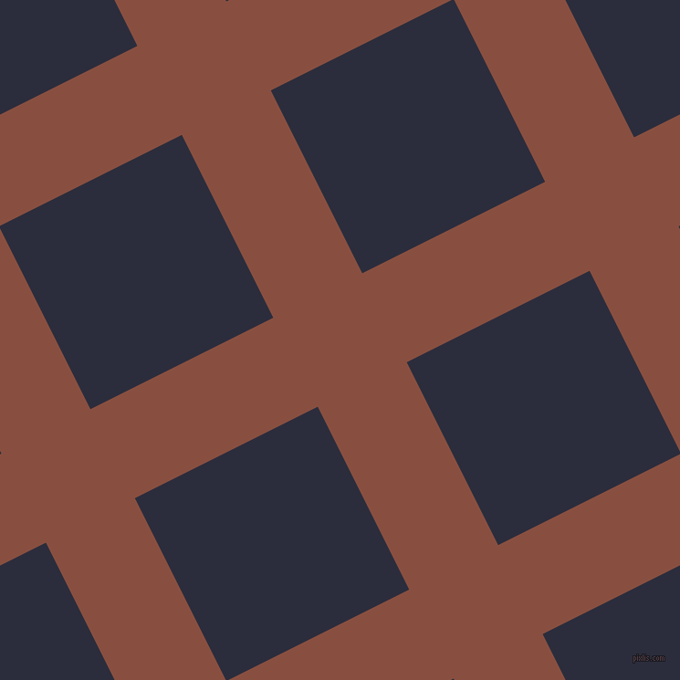 27/117 degree angle diagonal checkered chequered lines, 109 pixel lines width, 224 pixel square size, Mule Fawn and Black Rock plaid checkered seamless tileable