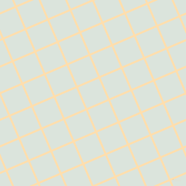 23/113 degree angle diagonal checkered chequered lines, 8 pixel lines width, 90 pixel square size, Navajo White and Aqua Squeeze plaid checkered seamless tileable