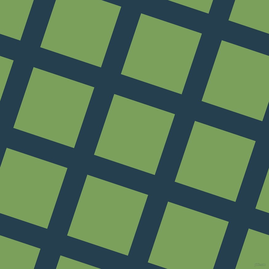 72/162 degree angle diagonal checkered chequered lines, 68 pixel line width, 208 pixel square size, Nile Blue and Asparagus plaid checkered seamless tileable