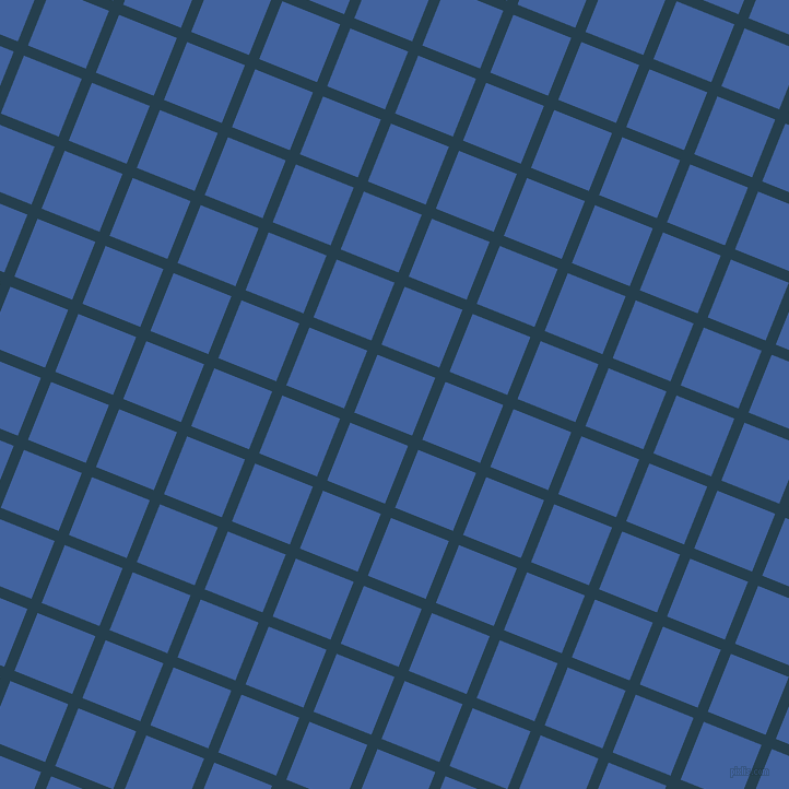 68/158 degree angle diagonal checkered chequered lines, 10 pixel lines width, 57 pixel square size, Nile Blue and Mariner plaid checkered seamless tileable