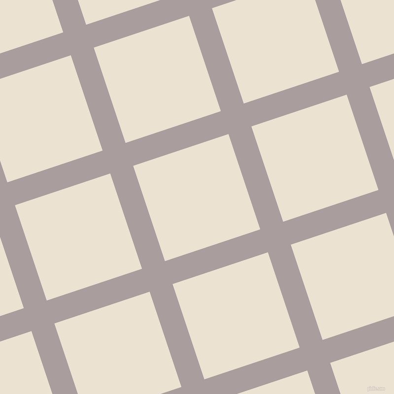 18/108 degree angle diagonal checkered chequered lines, 49 pixel line width, 204 pixel square size, Nobel and Quarter Spanish White plaid checkered seamless tileable