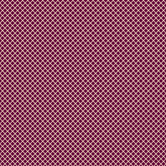 45/135 degree angle diagonal checkered chequered lines, 2 pixel lines width, 10 pixel square size, Oasis and Tyrian Purple plaid checkered seamless tileable