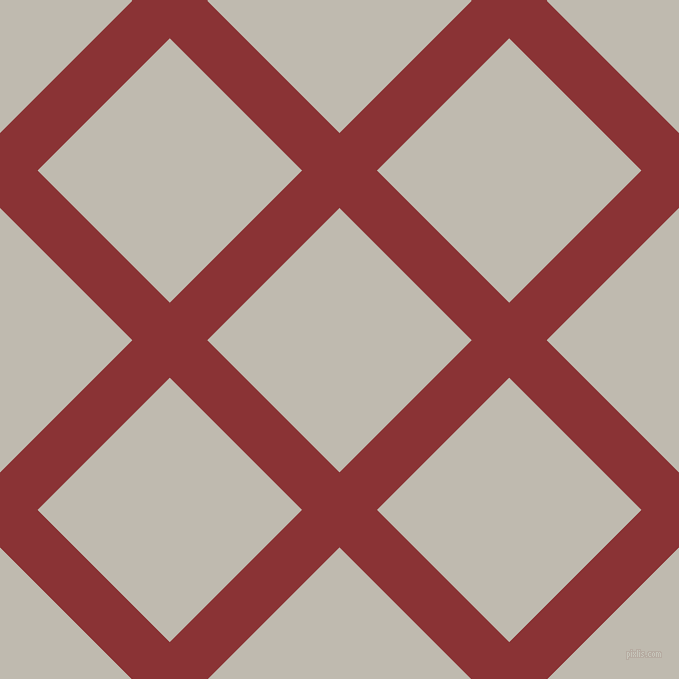 45/135 degree angle diagonal checkered chequered lines, 53 pixel line width, 187 pixel square size, Old Brick and Cotton Seed plaid checkered seamless tileable