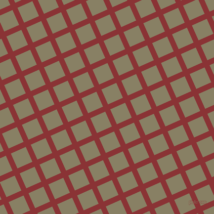 24/114 degree angle diagonal checkered chequered lines, 11 pixel lines width, 33 pixel square size, Old Brick and Olive Haze plaid checkered seamless tileable