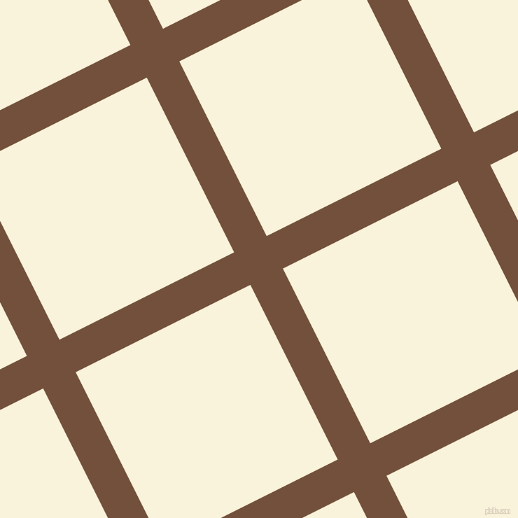 27/117 degree angle diagonal checkered chequered lines, 52 pixel line width, 279 pixel square size, Old Copper and Off Yellow plaid checkered seamless tileable