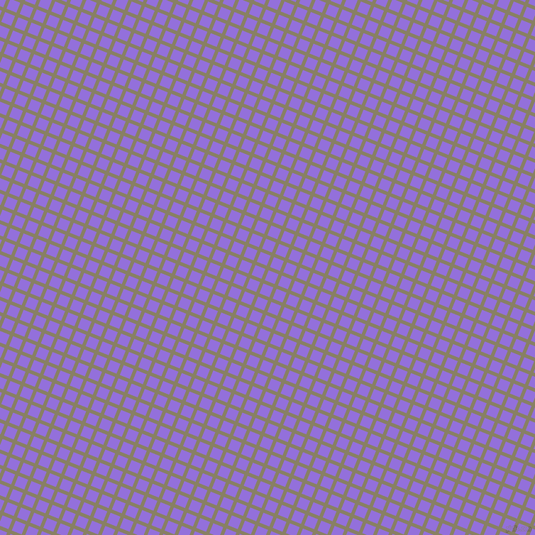 68/158 degree angle diagonal checkered chequered lines, 5 pixel lines width, 15 pixel square size, Olive Haze and Medium Purple plaid checkered seamless tileable