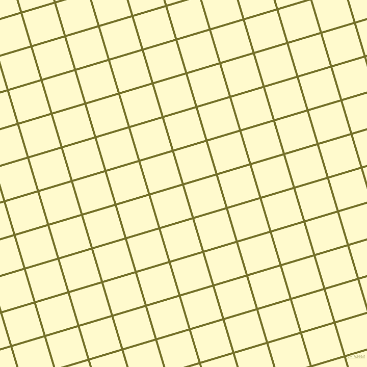 17/107 degree angle diagonal checkered chequered lines, 4 pixel lines width, 65 pixel square size, Olivetone and Lemon Chiffon plaid checkered seamless tileable