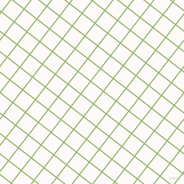 52/142 degree angle diagonal checkered chequered lines, 4 pixel lines width, 49 pixel square size, Olivine and Snow plaid checkered seamless tileable