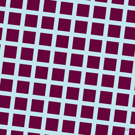 83/173 degree angle diagonal checkered chequered lines, 15 pixel lines width, 42 pixel square size, Onahau and Tyrian Purple plaid checkered seamless tileable