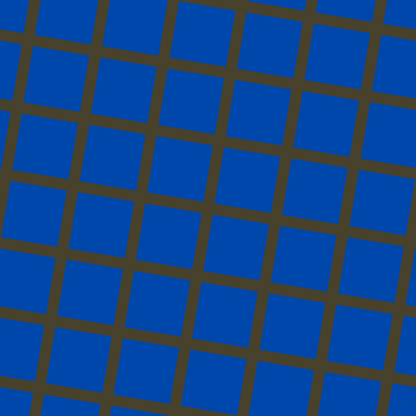 81/171 degree angle diagonal checkered chequered lines, 23 pixel lines width, 117 pixel square size, Onion and Cobalt plaid checkered seamless tileable