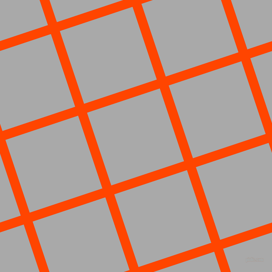 18/108 degree angle diagonal checkered chequered lines, 19 pixel lines width, 155 pixel square size, Orange Red and Dark Gray plaid checkered seamless tileable