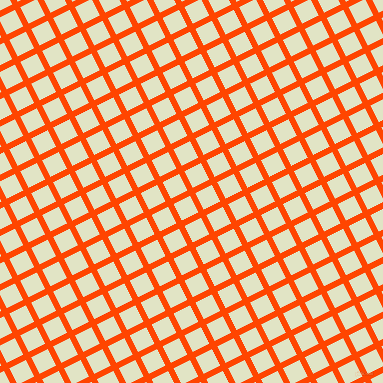 27/117 degree angle diagonal checkered chequered lines, 12 pixel lines width, 37 pixel square size, Orange Red and Frost plaid checkered seamless tileable