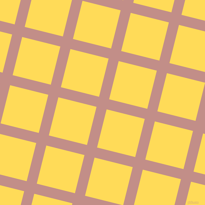 76/166 degree angle diagonal checkered chequered lines, 34 pixel lines width, 129 pixel square size, Oriental Pink and Mustard plaid checkered seamless tileable