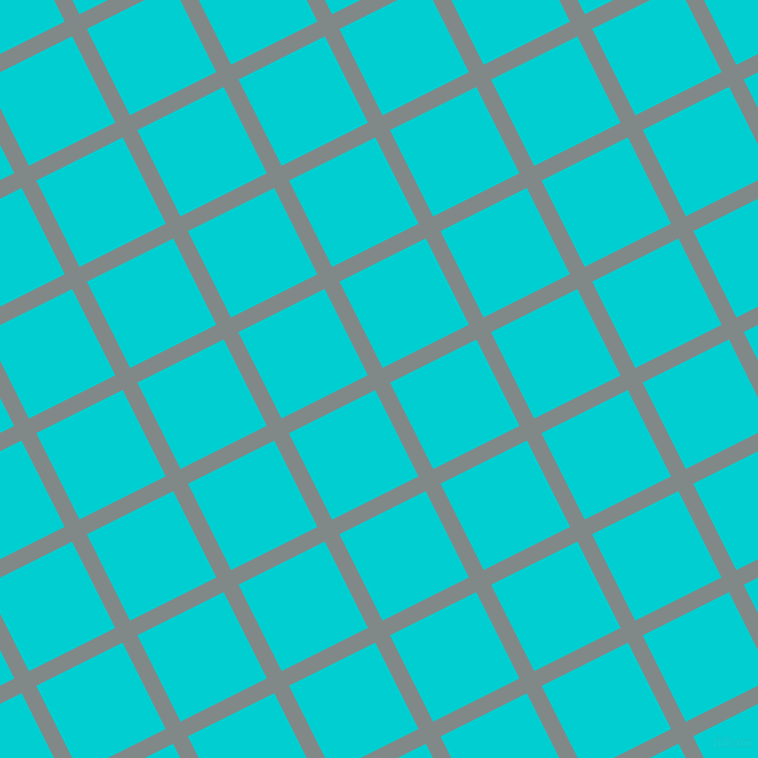 27/117 degree angle diagonal checkered chequered lines, 15 pixel line width, 88 pixel square size, Oslo Grey and Dark Turquoise plaid checkered seamless tileable