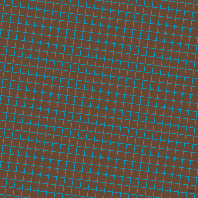 83/173 degree angle diagonal checkered chequered lines, 2 pixel lines width, 25 pixel square size, Pacific Blue and Jambalaya plaid checkered seamless tileable