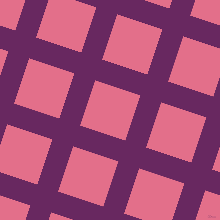 72/162 degree angle diagonal checkered chequered lines, 88 pixel line width, 191 pixel square size, Palatinate Purple and Deep Blush plaid checkered seamless tileable