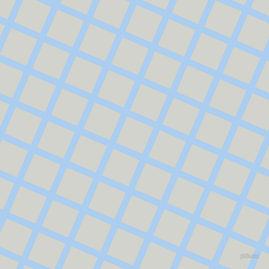 67/157 degree angle diagonal checkered chequered lines, 13 pixel lines width, 56 pixel square size, Pale Cornflower Blue and Grey Nurse plaid checkered seamless tileable