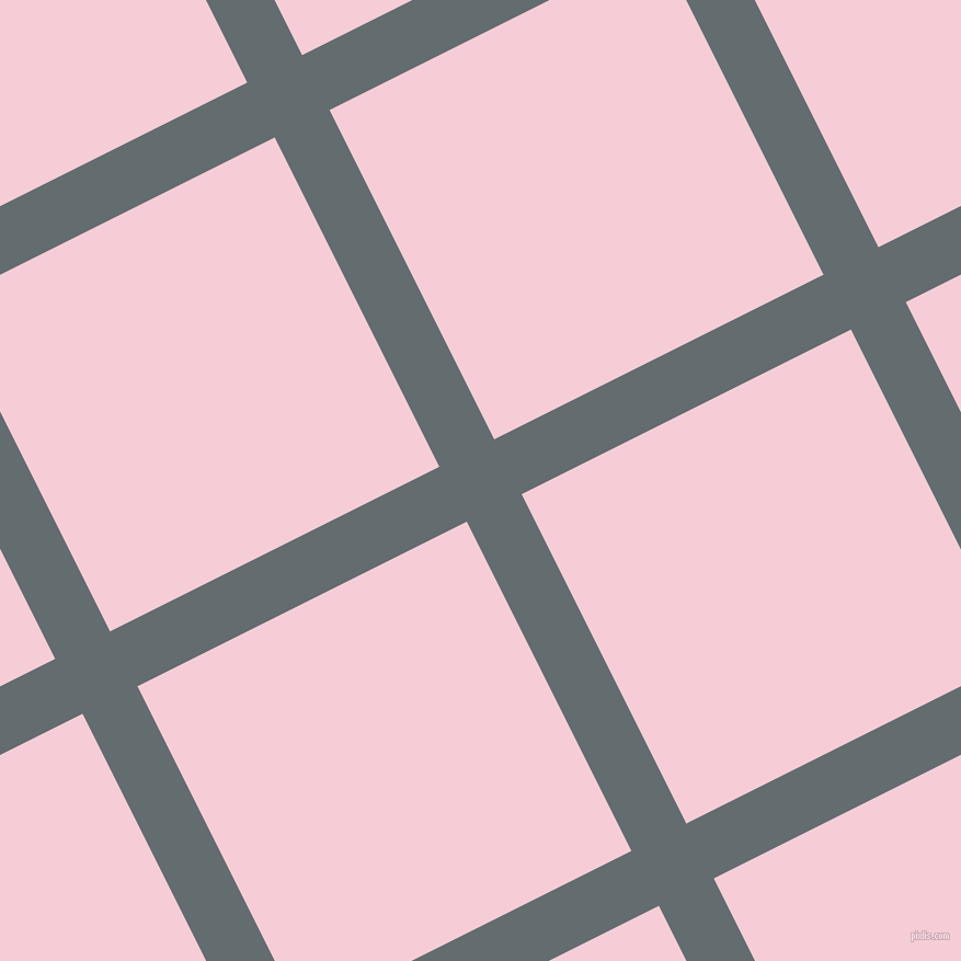 27/117 degree angle diagonal checkered chequered lines, 56 pixel line width, 336 pixel square size, Pale Sky and Pink Lace plaid checkered seamless tileable