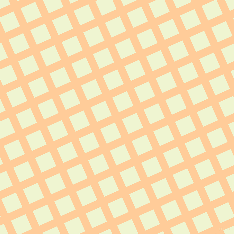 24/114 degree angle diagonal checkered chequered lines, 25 pixel line width, 52 pixel square size, Peach-Orange and Rice Flower plaid checkered seamless tileable