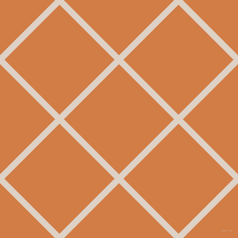 45/135 degree angle diagonal checkered chequered lines, 20 pixel lines width, 249 pixel square size, Pearl Bush and Raw Sienna plaid checkered seamless tileable
