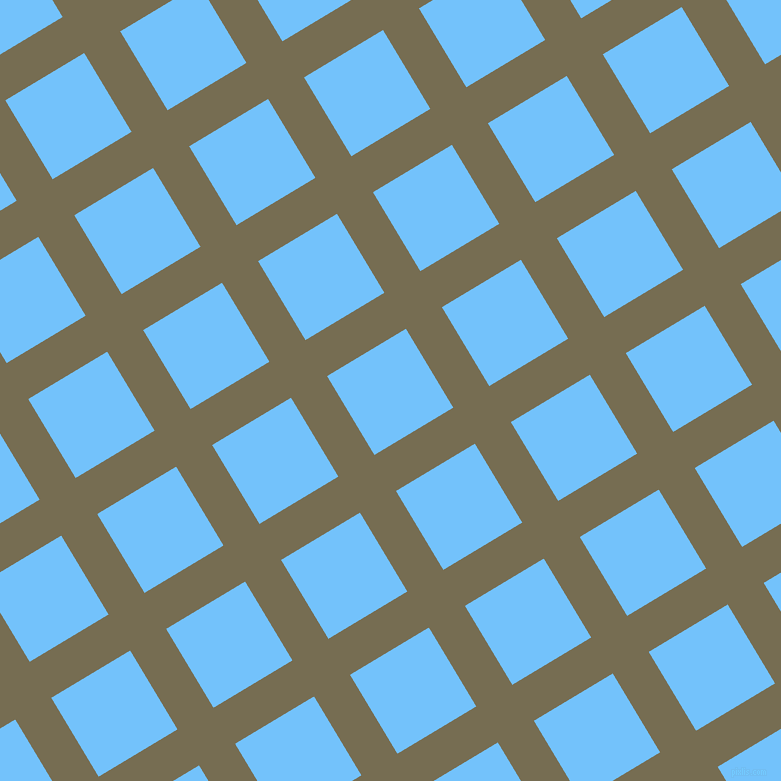 31/121 degree angle diagonal checkered chequered lines, 42 pixel line width, 92 pixel square size, Peat and Maya Blue plaid checkered seamless tileable