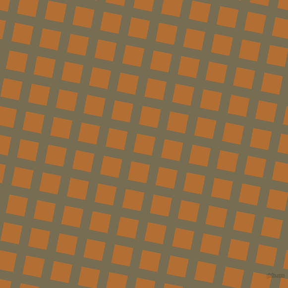 79/169 degree angle diagonal checkered chequered lines, 19 pixel lines width, 38 pixel square size, Peat and Reno Sand plaid checkered seamless tileable